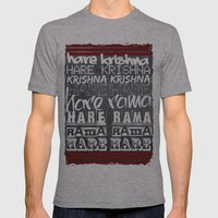 Hare Krishna Mens Fitted Tee Athletic Grey SMALL