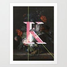 Letter K Art Print