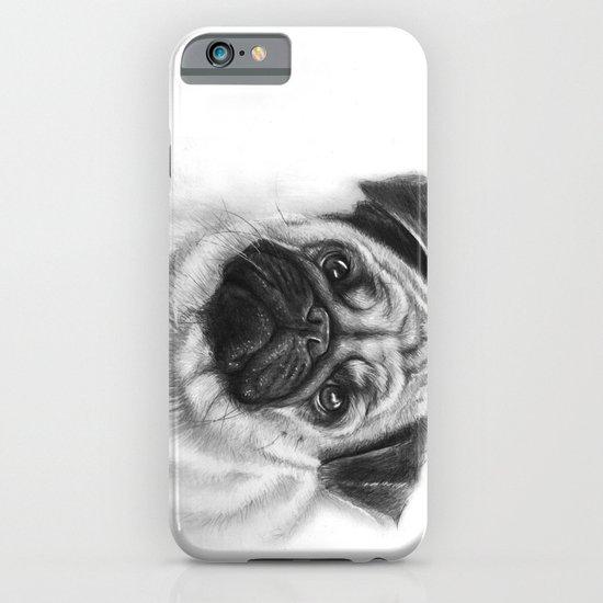 Cute Pug Portrait iPhone & iPod Case