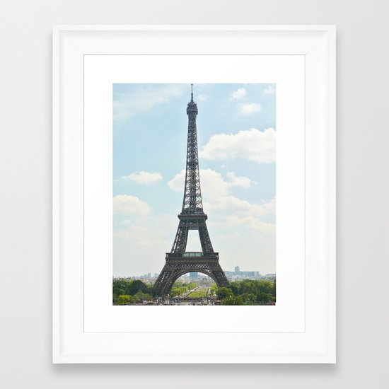 Eiffel Tower By Day Framed Art Print