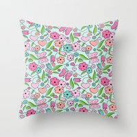 Sweetheart Aqua Throw Pillow