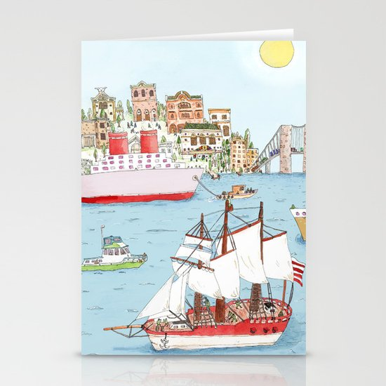 The Harbor Stationery Card