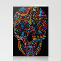 Skull happy Stationery Cards