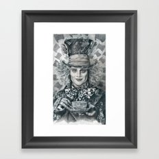 Mad Hatter - Johnny Depp Traditional Portrait Print Framed Art Print