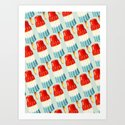 Bomp Pop Pattern Art Print