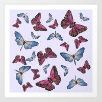 Flutter Byes Art Print