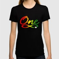 One Love Womens Fitted Tee Black SMALL