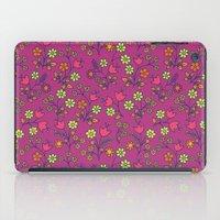 Retro Bloom Purple 2 iPad Case