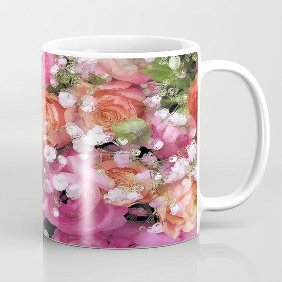 Baby's Breath and Candy Roses Mug
