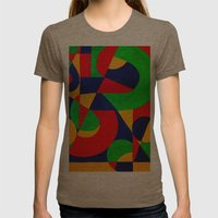 Formas # 3 Womens Fitted Tee Tri-Coffee SMALL