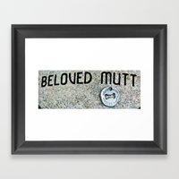 In Memory of a Good Dog Framed Art Print