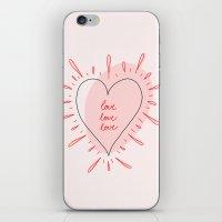 Love, Love, Love iPhone & iPod Skin