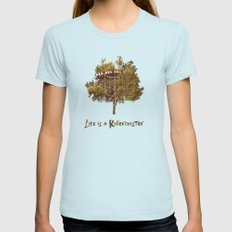 Joy Ride Womens Fitted Tee Light Blue SMALL