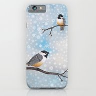 Chickadees In Snow iPhone 6 Slim Case