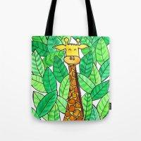Watercolor Giraffe Tote Bag