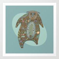 Big Brown Bear Art Print