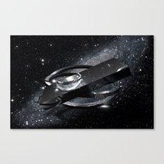 Spaceship (Black) Canvas Print