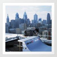 Bam - Philly Skyline Art Print