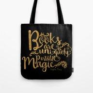Books Are A Uniquely Por… Tote Bag