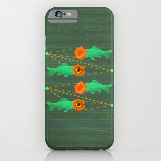 fishes and flowers color option iPhone & iPod Case