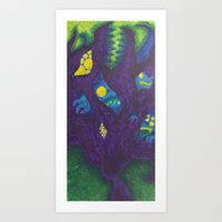 Monsters On My Mind Art Print
