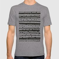 Dots and Lines Mens Fitted Tee Athletic Grey SMALL