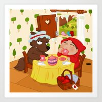Art Print featuring Little Red Riding Hood by Alapapaju