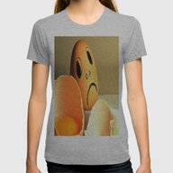 Eggs Womens Fitted Tee Athletic Grey SMALL
