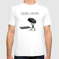 Taking Control Mens Fitted Tee White SMALL