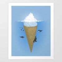 Hidden Part Of Icebergs Art Print