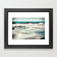Kauai Sea Foam Framed Art Print