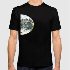 A Cozy Winter Cottage Mens Fitted Tee SMALL Black