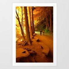The Golden Path II Art Print