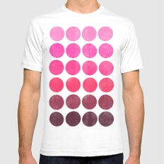 Color Play Pink SMALL White Mens Fitted Tee