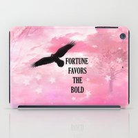 Surreal Fantasy Pink Nature Raven Typography iPad Case
