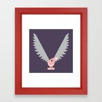 Letter V // Animal Alphabet // Vulture Framed Art Print
