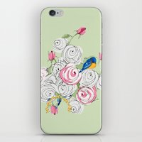 Bluebirds And Roses On G… iPhone & iPod Skin