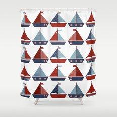 My Little Sail Boat. Shower Curtain