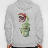 Piranha Plant Watercolor Hoody