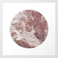 Planetary Bodies - Red R… Art Print