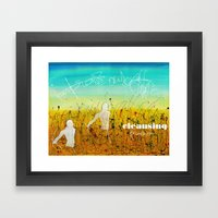 Cleansing process Framed Art Print