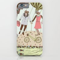 iPhone & iPod Case featuring Mr and Mrs Raccoon by Yuliya