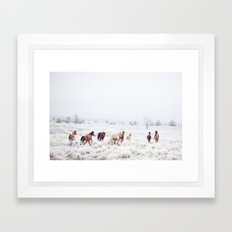 Winter Horses Framed Art Print