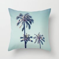 Palm Trees Ver.vintage Throw Pillow
