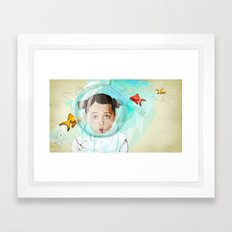 Fish Girl Framed Art Print