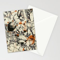 Vintage Made Modern: Matterhorn Switzerland Map Collage with Doodles Stationery Cards