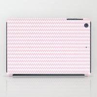 Pink Zigzag Design iPad Case