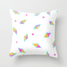 Gems of Pink and Gold Throw Pillow