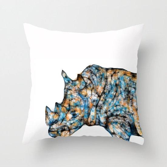Rhino-no text Throw Pillow