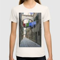 Venice Alley Womens Fitted Tee Natural SMALL